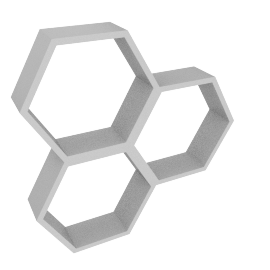 Honeycomb Cube Shelf, Grey