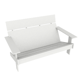 Lollygagger Bench, White
