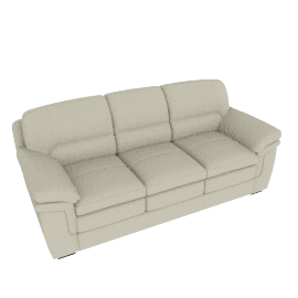 Taylor 3-Seater Sofa with Splayed Arms, White