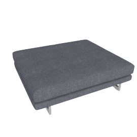 Lecco Platform, Pebble Weave - Pumice with Aluminum Base