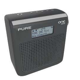 PURE One Mini DAB Digital Radio, Black