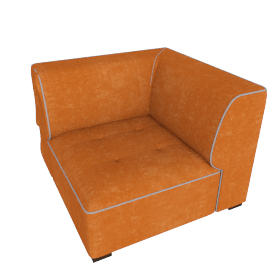 Caris Corner Sofa, Orange