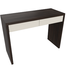 Renato 2 Drwr Dressing Table-Hg Grey/Wlnt