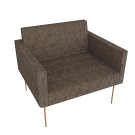 Tuxedo Club Chair, lava