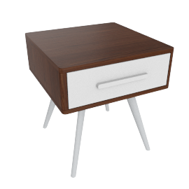 Retro 1-Drawer End Table