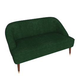 Margot 2 Seater Sofa, Forest Green Velvet