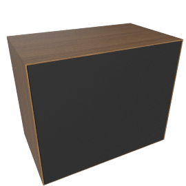 Forma Large Box with Door, Walnut/Graphite