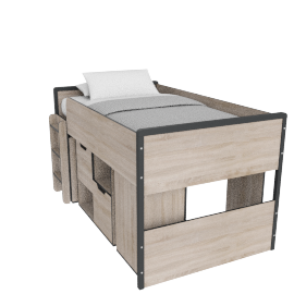 Riley Cabin Bed - 90 x 200