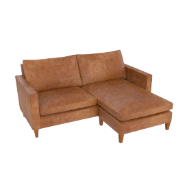 Bailey RHF Chaise End Sofa, Lustre Cappuccino