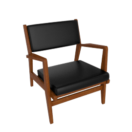 Jens Chair, Walnut, Elmosoft Leather - Black