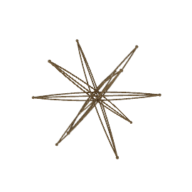 "9"" Six-Axis Star - Bronze"