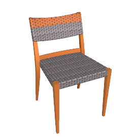 Play Sidechair - Terracotta/Stone - Terracotta