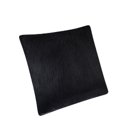 Mongolian Filled Cushion - 45x45 cms, Black