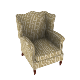 Cadogan Wing Chair, Whitesands