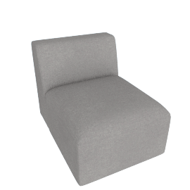 Juno modular - Single Seat, Marl Grey