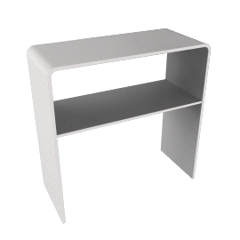 Ice Console Table, White