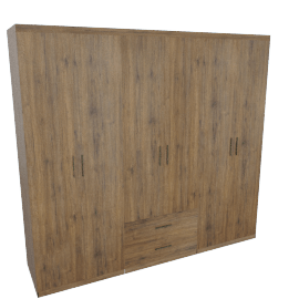Sleek 6-Door 2-Drawer Wardrobe