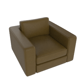 Reid Armchair in leather, olive