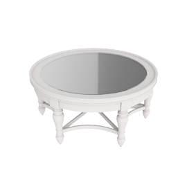 Orland Round Coffee Table, White