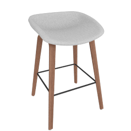 About A Stool 33 Counter Stool, Remix 0123 Light Grey / Walnut