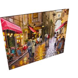 McNeil's Studio - Cafe Street Print on Canvas, 40 x 50cm
