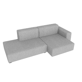 Mags Soft Low Sectional with Right Chaise, Remix 0123 light grey