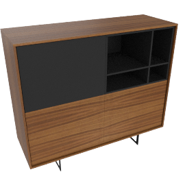 Aura Tall Cabinet, Walnut