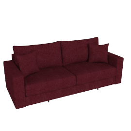 Signature Sofa Bed, Cranberry