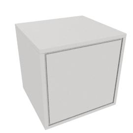 Napoli Matt Bedside Cabinet, White