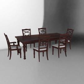 Juego de comedor Porter 4 sillas y 2 sitiales