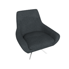 Noomi Swivel Chair, Grey
