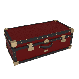 Traditional Hand Trunk, Burgundy