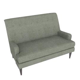 Gatsby Petit Sofa, Quinn Blue Grey With Quinn Charcoal