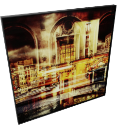 Twisted City Scene Crystal Painting - 60x2.5x60 cms