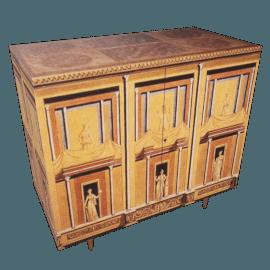 pompeiana, small chest w/brass feet by fornasetti