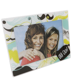 Moustache Photo Frame - 5x7 inches