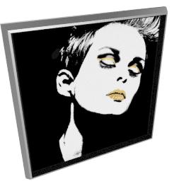 Glam Rock III by KelliEllis - 30''x30'', Silver