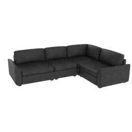 Samson Leather Modular Furniture, Black