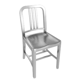 1006 Navy Side Chair - Brushed