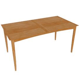 Alba 6-8 Seater Extending Dining Table, Oak