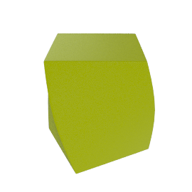 Frank Gehry Left Twist Cube - Green