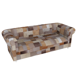Esquirio 3 Seater Metallic
