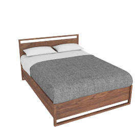 Matera Bed With Storage - Full - Walnut