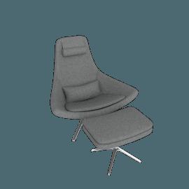 Metropolitan Chair in Fabric - Charcoal