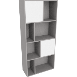 Stretto tall shelving unit, grey