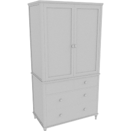 Lomond 4 Drawer Double Wardrobe, Grey