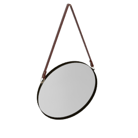 Round Hanging Mirror, Dia. 50cm, Copper