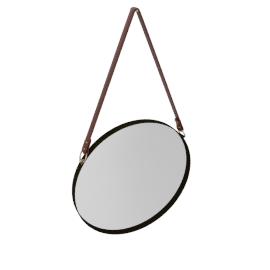 Round Hanging Mirror, Dia. 50cm, Copper