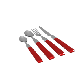 Lido 16-Piece Cutlery Set, Red