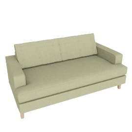 Mistral 3 Seater Sofa, Boucle Wool Olive Natural